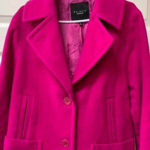 Gorgeous Magenta Wool Swing (Pea) Coat